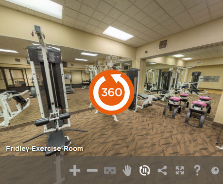 Exercise-room at LivINN Hotel Minneapolis North/Fridley