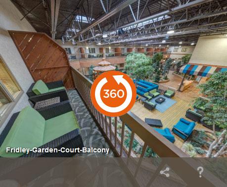 Garden court balcony